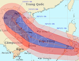 Siêu bão Haiyan đang tiến về phía ven biển miền Trung