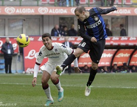 Inter bất ngờ bị Cagliari cầm chân ngay trên sân nhà