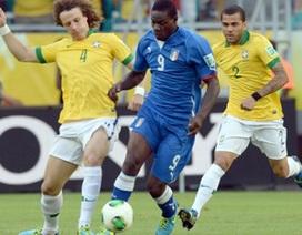 Balotelli vắng mặt trong trận đấu với Tây Ban Nha