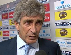 Pellegrini nổi cáu vì hàng thủ Man City