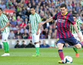 Cuộc đua Chiếc giày vàng châu Âu: Messi áp sát CR7, Suarez