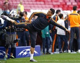 C.Ronaldo cười tươi hết cỡ trước trận sinh tử