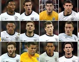 Đội tuyển Anh chính thức chốt đội hình dự World Cup 2014