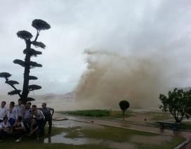 Nhiều người đổ xô đi xem bão đến