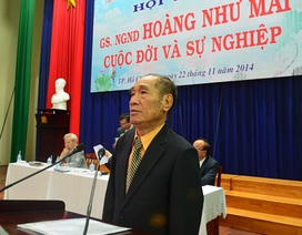 Học trò tưởng nhớ GS Hoàng Như Mai tròn một năm ông mất