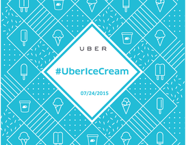 Truyền thống giao kem của Uber lần đầu tiên có mặt tại Việt Nam