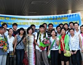 Đón học sinh đoạt Huy chương Đồng Olympic Toán Quốc tế