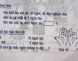 Bài toán rợn người trong... sách lớp 1