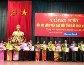 Nghệ An: Hơn 290 giáo viên đạt dạy giỏi cấp tỉnh năm 2012