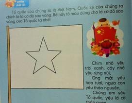 Phát hiện thêm hai sách dành cho trẻ vẽ cờ Trung Quốc