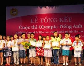 Tròn 10 năm Olympic tiếng Anh dành cho học sinh tiểu học