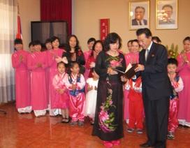 Trường Mẫu giáo Việt - Triều Hữu nghị nhận Huân chương Hữu nghị hạng Nhất của CHDCND Triều Tiên