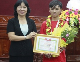 Cậu học trò lớp 9 giành giải sáng tạo trẻ quốc tế