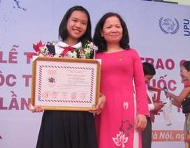 Trao giải cuộc thi quốc tế UPU lần thứ 42