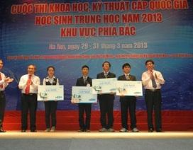 Tuyển thẳng 20 học sinh đạt giải hội thi khoa học kỹ thuật toàn quốc