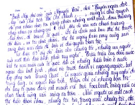 Nữ sinh Hà Nội với bài văn phẫn nộ khi đất nước bị xâm phạm chủ quyền