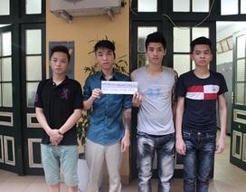 """4 quái xế """"đại náo"""" phố phường Hà Nội sa lưới"""