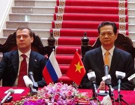 Việt Nam, Liên bang Nga ký kết nhiều văn kiện hợp tác quan trọng
