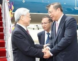 Tổng Bí thư tiếp Chủ tịch đảng cầm quyền Thái Lan
