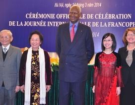 Phó Chủ tịch nước Nguyễn Thị Doan dự lễ kỷ niệm Ngày Pháp ngữ