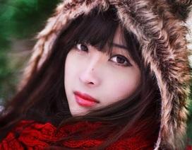 Ngỡ ngàng thiếu nữ Việt tỏa sắc giữa tuyết trời nước Nga