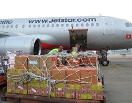 Jetstar Pacific chuyển miễn phí 40 tấn hàng cứu trợ đến miền Trung