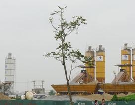"""Hàng chục trạm trộn bê tông không phép """"băm nát"""" phường Mễ Trì, Phú Đô"""