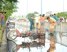 Nam thanh niên tử nạn vì vũng nước trên đường