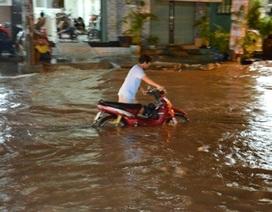 TPHCM lại ngập nặng sau mưa lớn