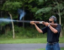 Nhà Trắng công bố ảnh Obama bắn súng thể thao