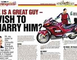 Hài hước quảng cáo tuyển vợ của triệu phú Ấn Độ