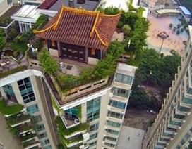 Trung Quốc: Thêm một biệt thự cổ quái trên nóc chung cư bị điều tra