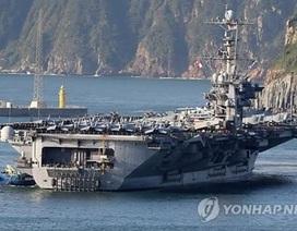 Siêu tàu sân bay Mỹ cập cảng Hàn Quốc chuẩn bị tập trận