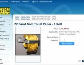 """""""Sốc"""" với cuộn giấy vệ sinh làm bằng vàng giá 29 tỷ đồng"""