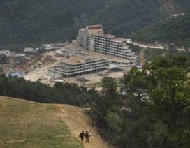 """Cận cảnh công trường khu trượt tuyết """"đẳng cấp thế giới"""" của Triều Tiên"""