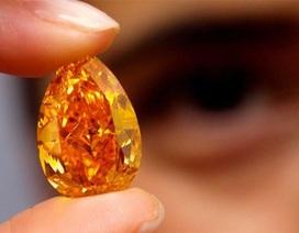 Chiêm ngưỡng viên kim cương màu cam lớn nhất thế giới có giá 36 triệu USD