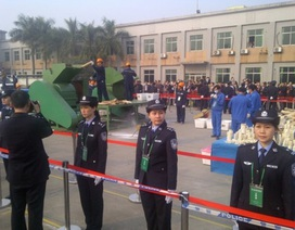 Trung Quốc tiêu hủy hơn 6 tấn ngà voi