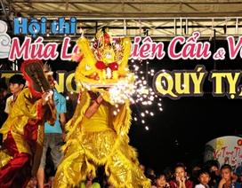 Quảng Nam:Trời mưa, vẫn rộn ràng trống lân vui trung thu