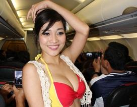"VietJetAir bị phạt vì ""diễn"" bikini trên máy bay"