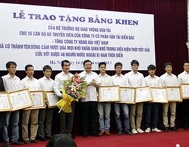 Bộ trưởng Thăng khen thưởng các thủy thủ cứu 40 người Myanmar