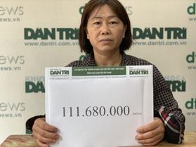 Bạn đọc Dân trí giúp đỡ chàng trai nằm thực vật suốt 3 năm số tiền hơn 111 triệu đồng
