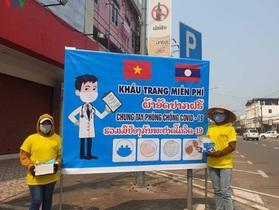 Cộng đồng người Việt Nam tại Lào chung tay chống dịch Covid-19