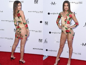 """""""Tình cũ"""" của Brooklyn Beckham diện váy xuyên thấu táo bạo"""