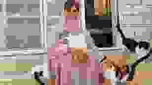 Người phụ nữ chung sống với 480 chú mèo, 12 chú chó