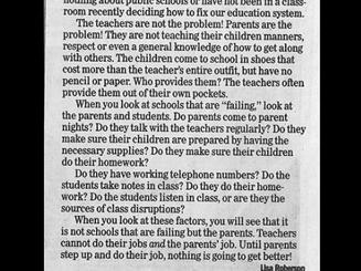 """Mỹ: Bức thư gây tranh cãi khi cho rằng """"phụ huynh là nguyên nhân nền giáo dục thất bại"""""""