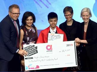 Nam sinh Việt giành giải cuộc thi thiết kế đồ họa thế giới tại Mỹ