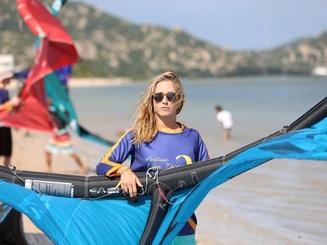 Biển Ninh Chữ gây ấn tượng mạnh với vận động viên quốc tế