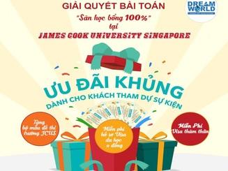 """Cơ hội """"rinh"""" học bổng 100% học phí từ Đại học James Cook Singapore"""