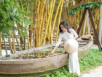 """Giới trẻ rủ nhau """"check in"""" rừng tre độc đáo nằm giữa Hội An và Đà Nẵng"""