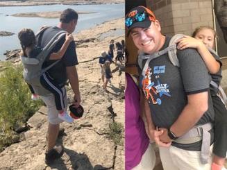 Mỹ: Thầy giáo tình nguyện cõng cô học trò suốt chuyến dã ngoại